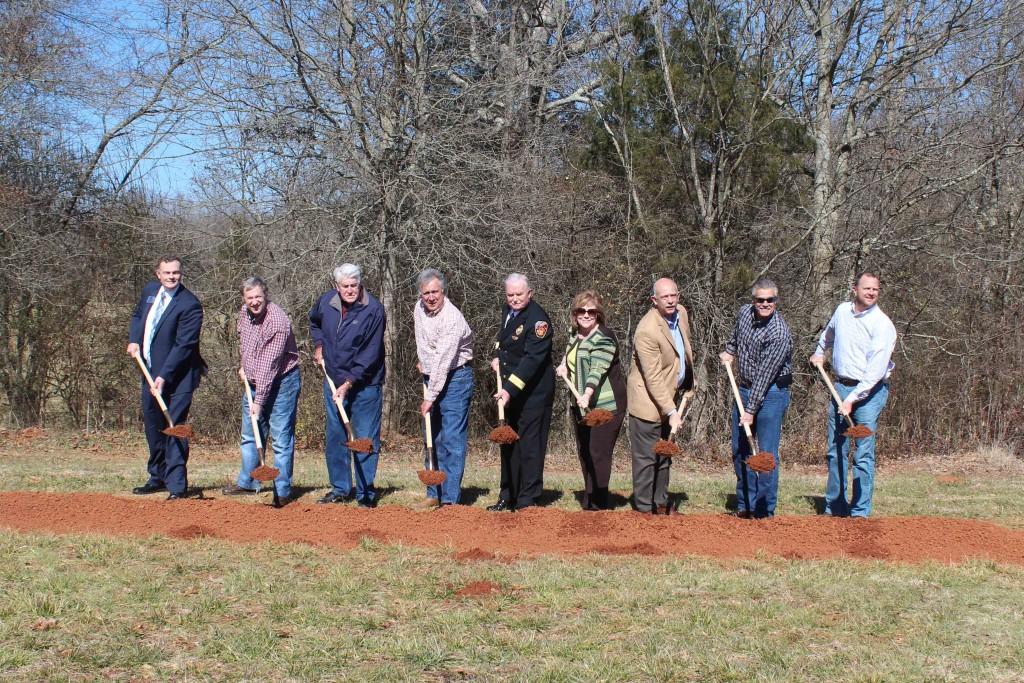 Forsyth County Fire Station 8 Groundbreaking 2.19.16