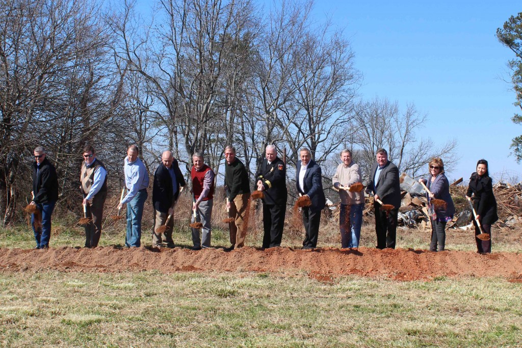 Ground is broken for new Forsyth County Fire Station 6, 2.12.16