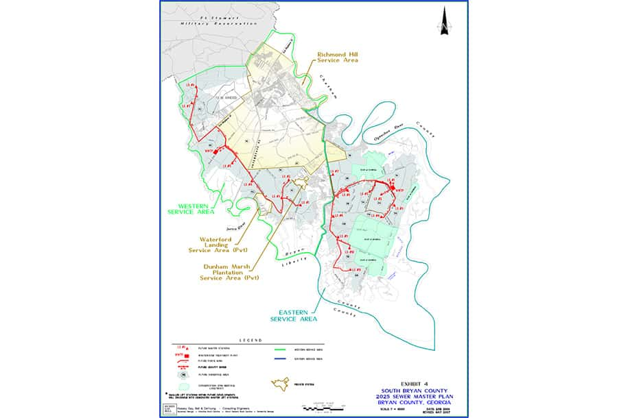 2025 Water Sewer Master Plan Bryan County Ga Hussey Gay Bell